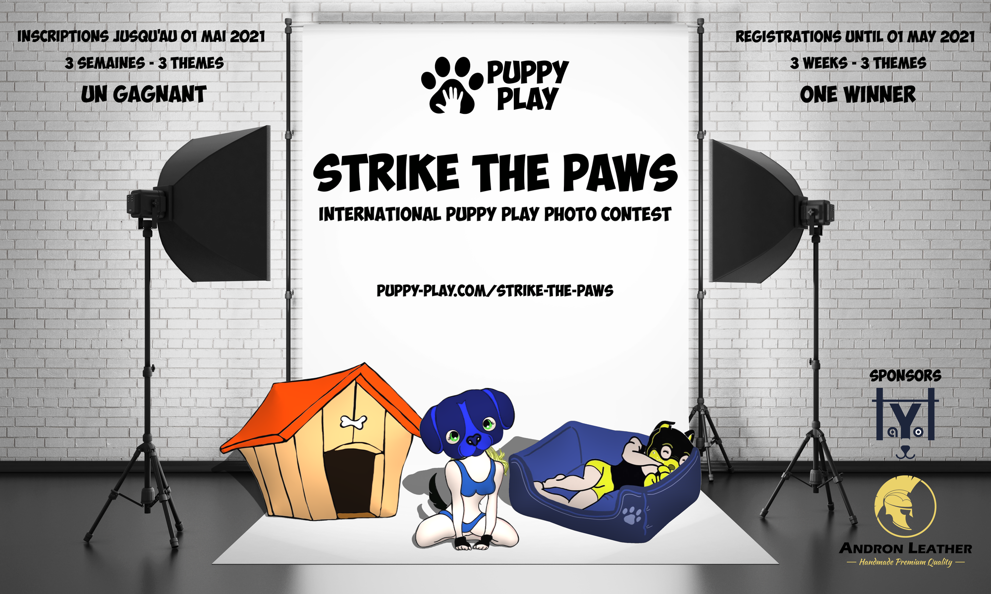 2021-04-13 - Strike The Paws – International Puppy-Play Photo Contest