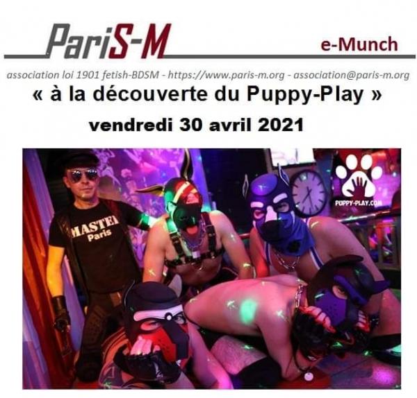 """2021-04-30 – e-munch """"découverte du Puppy-play"""""""